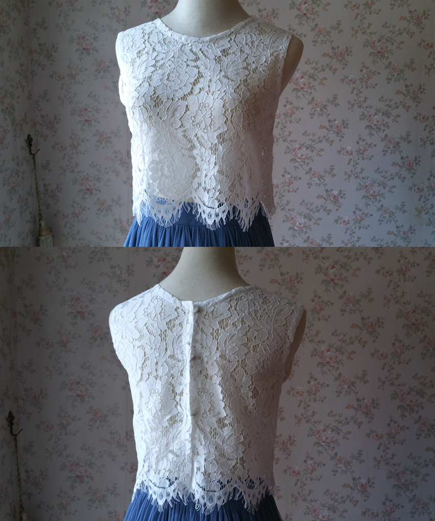 White lace top roundneck 9