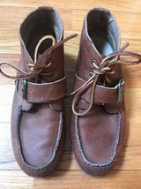 POLO BY RALPH LAUREN MENS BROWN LEATHER UPPERS ANKLE BOOTS SIZE 8D - $80.87