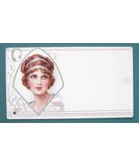 INK BLOTTER 1920s - MOVIE STAR Lovely Red Hair Girl - $4.04