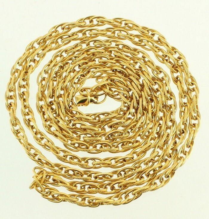 Vintage Vendome Silver Chain Link Necklace