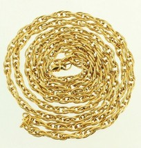 "VINTAGE VENDOME ORNATE LINK CHAIN NECKLACE STUNNING GOLD FINISH 54"" LONG... - $101.24"