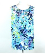 COLDWATER CREEK Size 2X Pleated Tank Top Satin Floral - $20.99