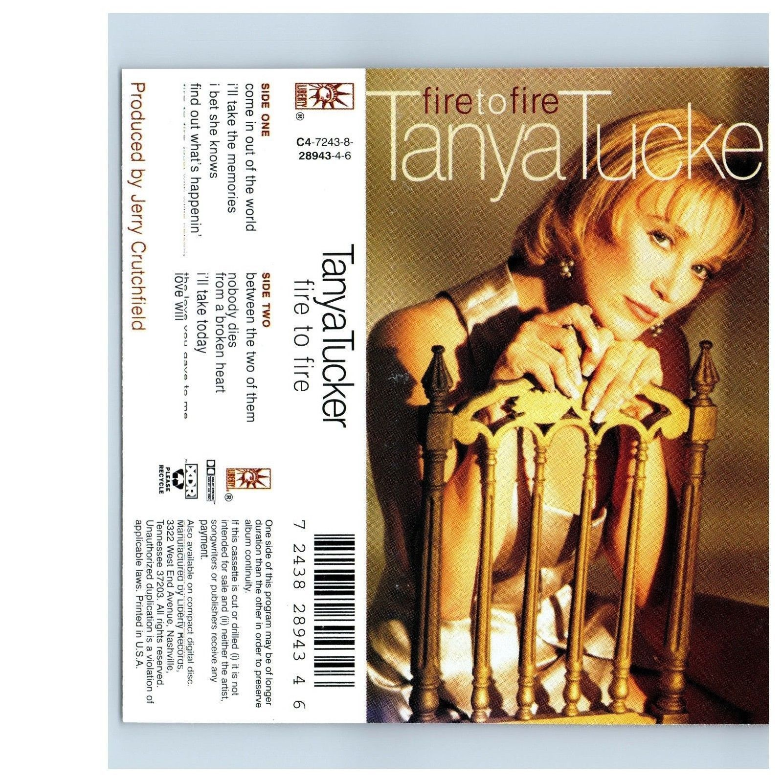 Fire to Fire by Tanya Tucker (Cassette, Mar-1995, Liberty (USA))