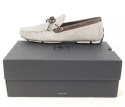 $175 Ugg Australia Bel-Air Embossed Slip On Driver Loafers Leather Sz 10.5 Gray - $106.69