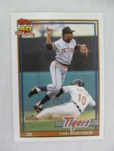 Lou Whitaker Detroit Tigers 1991 Topps Baseball Card 145 - $0.98