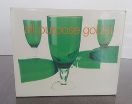 Green 14 ounce Acrylic All purpose Goblet Set of 6 six Wine Cup - $39.59