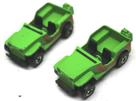 2 1970 Hot Wheels Grasshopper Jeep Redline Diecast Cars Mattel Made Hong... - $37.39
