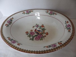 Antique Canonsburg China Salad Plate Bird of Paradise - $21.78