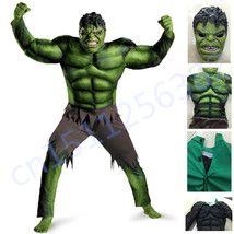 The Avengers Hulk Costume Cosplay Halloween Fantasy Muscle Mask for kids... - $32.80+
