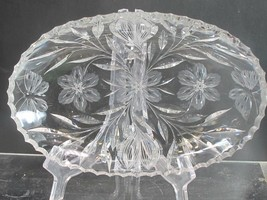 ABP cut glass dish Murillo Pairpoint Butterfly ANTIQUE - $92.22