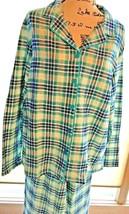 Women's Sleep Chic Large Sleepwear Pajama Set Turquoise Plaid NWT.    SK... - $23.95