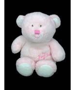 "TY Pluffies My Baby Bear Pink Plush Lovey 9"" Beanie Stuffed Tylux Teddy ... - $29.95"