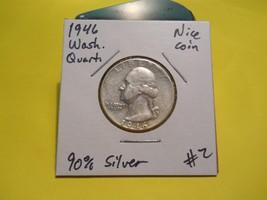 1946 Washington Silver Quarter!!! Nice Coin!!! 90% Silver!!! - $5.62