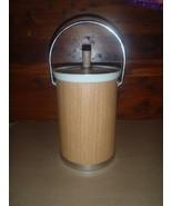 Vintage Kromex Ice Bucket Faux Wood Grain & Chrome Mid Century Modern MCM USA - $28.04