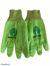 Nabors Industrial Maintenance Work Safety Green Gloves Large Cotton Logo... - $15.83