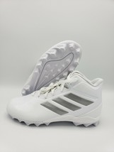 adidas Freak Mid MD J Football Cleats Kids/Youth White/Silver EG5079 Size 3.5 - $19.79