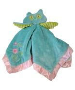 Douglas Baby Owl Lovey Security Blanket  Blue Pink Green Floral Soft Hug... - $22.43