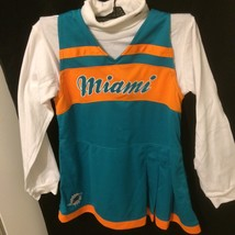 NFL Miami Dolphins Girls Cheer Jumper Dress with Turtleneck Set, Large, ... - $14.84