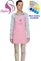Personalized Hair Stylist Apron with Salon Embroidery Design Mom Gift - $22.99