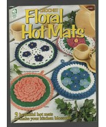 Crochet Floral Hot Mats - House of White Birches - SC - 1997 - 101083. - $3.43