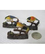 Vintage Miniature Bird on Branch w Nest 1 3/8 x 1 1/8 In Crafts Christma... - $15.35