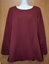 Womens Burgundy Wine Long Sleeve Shirt Size Small XL NWT NEW - $6.92