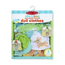 """Melissa & Doug Mine to Love Mix & Match Playtime Doll Clothes for 12""""-18... - $28.52"""