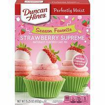 Duncan Hines Signature Cake Mix, Strawberry Supreme, 15.25 Ounce - $8.81