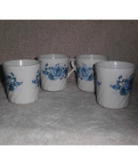 Corning Ware Blue Velvet Coffee Tea Mugs Corelle Swirl Set of 4 - $21.95