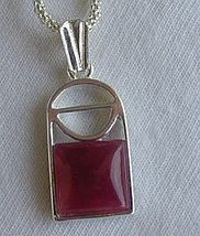 Mini red window pendant - $25.00