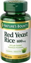 Nature's Bounty Red Yeast Rice 600 mg, 120 Capsules - $12.99