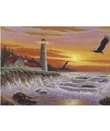 The Guiding Light 1000 pc Lighthouse Puzzle Mat... - $12.99