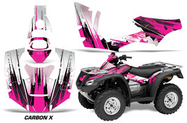 ATV Decal Graphics Kit Quad Wrap For Honda FourTrax Rincon 2006-2018 CARBONX PNK - $168.25