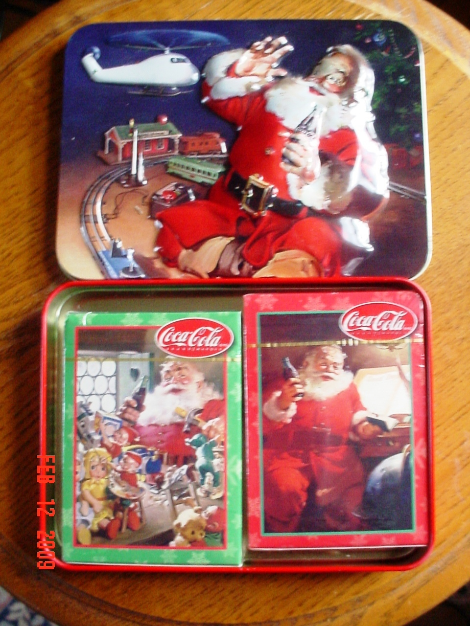 Coca Cola Collectible Tin and 2 Decks of Playing Cards MIB