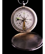 Vintage Pocketwatch compass necklace - Nautical Compass - steampunk - Ma... - $85.00