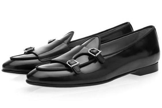 fa4bb90ebba Mens Classic Leather Pumps with Monk Style
