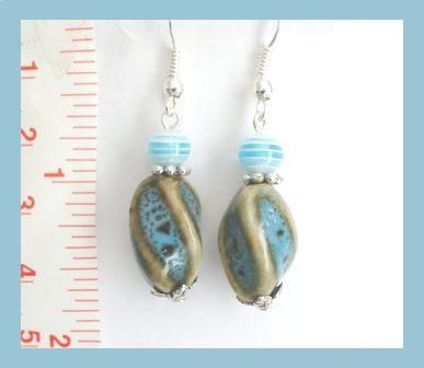 Turquoise Beautiful Porcelain Earrings