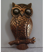 Vintage Copper Owl on a Branch Pin - $3.95