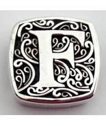 Authentic Lori Bonn Bons 925 Silver F Is for Fabulous Slide Charm 29920x... - $37.99