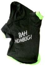 Pet Costume Christmas Bah Humbug Dog T Shirt XS-S Hood Holiday Black Used - $12.71