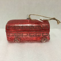 Pottery Barn London Double Decker Bus Christmas Ornament New Old Stock - $14.84