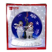 J. c. penney home collection lighted acrylic ball snowcouple globe watch... - $62.51