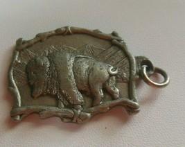 Vintage Fine Pewter Buffalo Pendant 1995 - £9.82 GBP