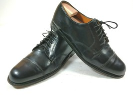 Cole Haan Cap Toe Dress Oxford Mens Size 10 D Black Made in USA Shoe 08000 - $32.68