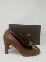 NEW Gucci Dark Brown Leather Interlocking G Pumps - Size 9 (39 EU) - $225.39