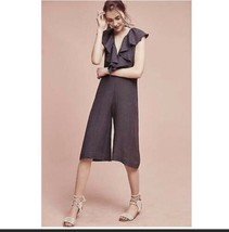 Anthropologie Maria Stanley Womens Sz S Cascada Jumpsuit Gray Cotton NEW - $70.32