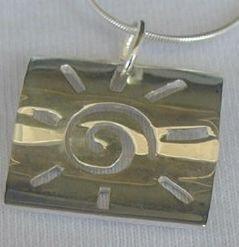 Fantasy silver pendant