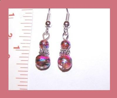 Petite Crystal Clear Glass w/ Foil Swirls Earrings