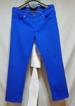 Lauren Jeans Co Ralph Lauren Bright Blue Modern Straight Cropped Ankle P... - $21.47