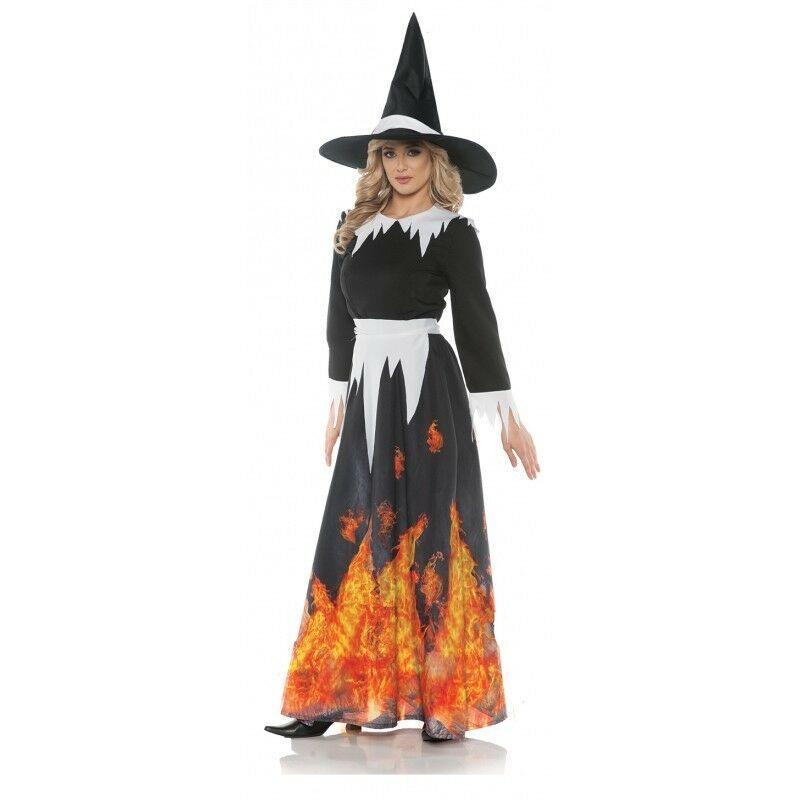Underwraps Burning Salem Bruja Ensayos Adulto Mujer Disfraz Halloween 28076